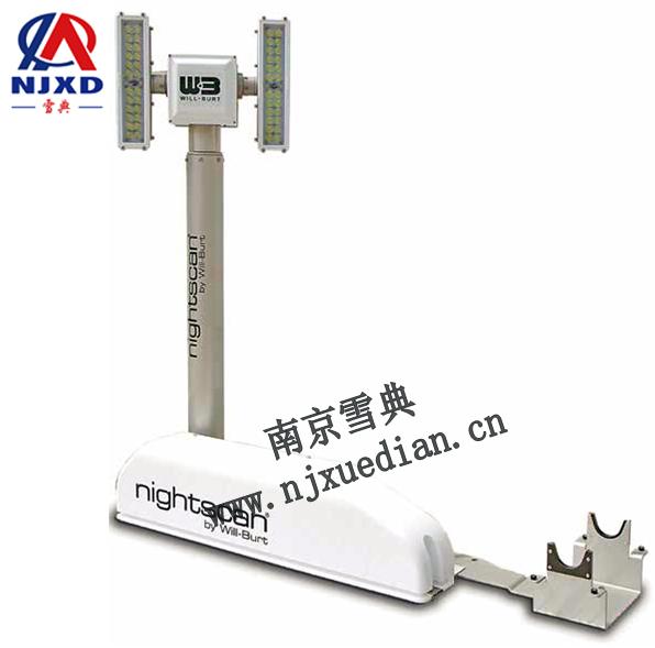 简约型曲臂式照明塔