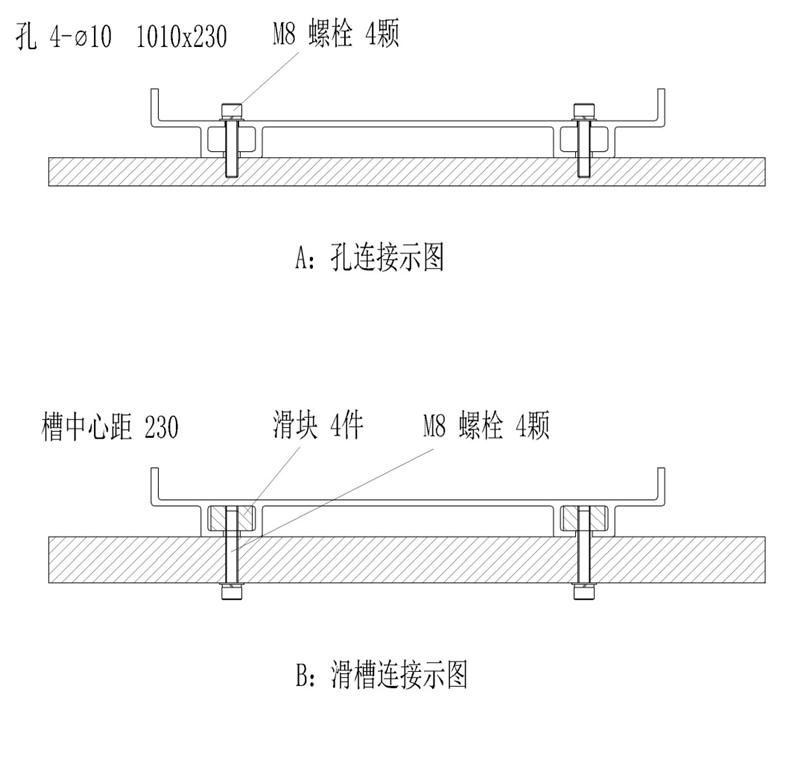 图5 两种固定方式